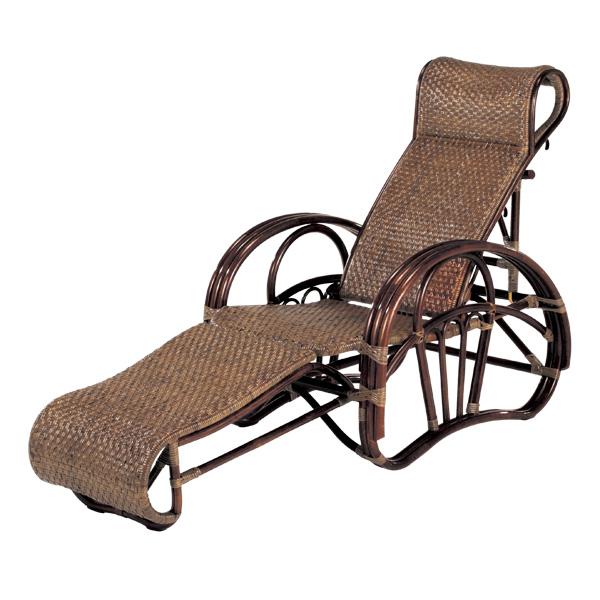 籐 リクライニングチェア スライド式オットマン ラタン製 C102CN 座面高33cm ( 送料無料 椅子 イス いす ラタン家具 アジアン家具 リクライニング リクライニングチェアー コンパクト チェア チェアー 座椅子 シェーズロング 折りたたみ )
