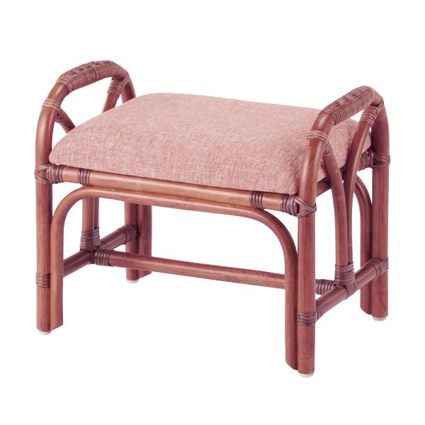 籐 スツール クッション付 ラタン製 座面高36cm ( 送料無料 椅子 イス いす ラタン家具 アジアン家具 座椅子 座いす 座イス チェア チェアー オットマン 手編み )