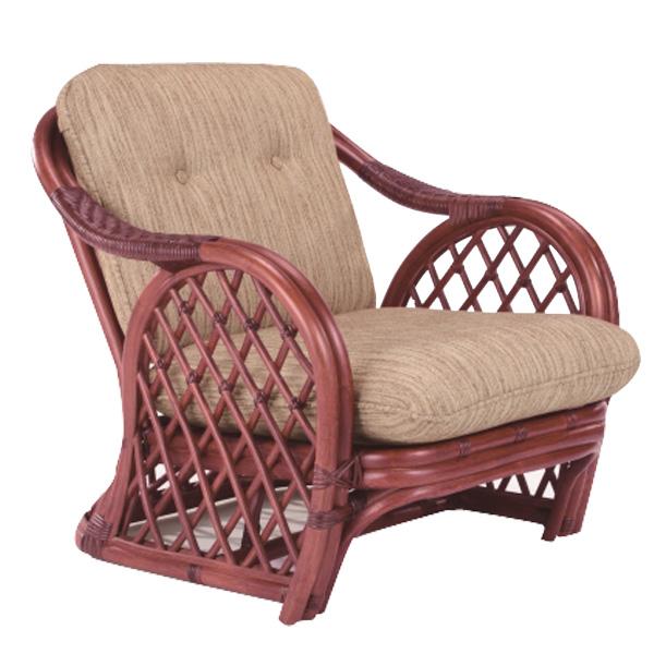 籐 アームチェア ラタン製 幅75cm ( 送料無料 アジアン家具 ラタン家具 チェア 座椅子 チェアー 椅子 イス 一人掛け リゾート 組み合わせ 手編み )