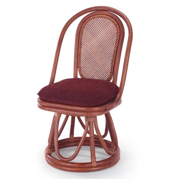籐 ダイニングチェア ラタン 回転チェア 幅46cm ( 送料無料 ラタン家具 アジアン家具 チェア 椅子 イス いす 回転 360度回転 チェアー ダイニングチェアー )