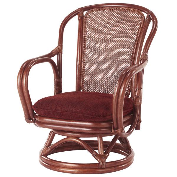 ラタンチェア 回転座椅子 シィーベルチェア 座面高32cm ( 送料無料 ラタン家具 アジアン家具 チェア 座椅子 シーベルチェア シィーベルチェアー 座いす 回転 椅子 イス いす 手編み )