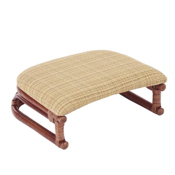 籐 正座椅子 座面布張り クッション付 SA206DB 幅45cm ( 送料無料 ラタン家具 アジアン家具 座椅子 座いす 椅子 イス いす ラタン アジアン リゾート クッション 正座いす )
