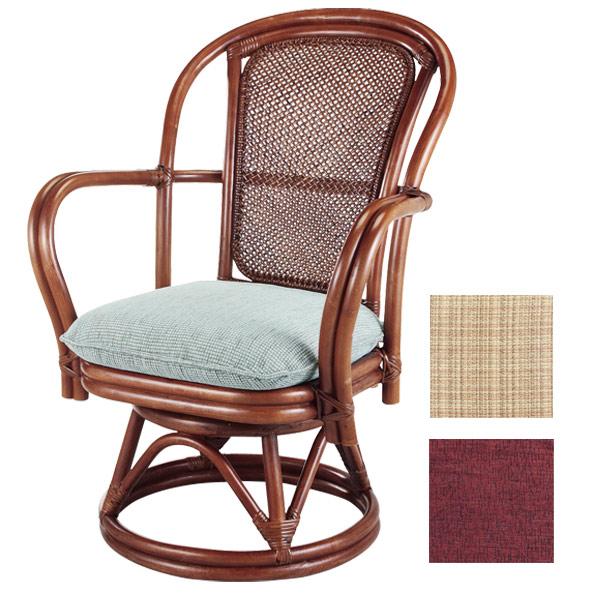 籐 回転座椅子 シィーベルチェア ラタン製 座面高38cm  ( 送料無料 アジアン家具 ラタン家具 座椅子 シーベルチェア シィーベルチェアー シーベルチェアー 座いす 回転 椅子 イス いす チェア 手編み 360度回転 )