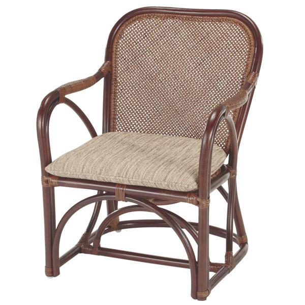 籐 ラタンチェア アームチェア 籐家具 27CN 座面高37cm ( 送料無料 アジアン家具 ラタン家具 椅子 チェア イス いす アームチェアー チェアー 肘掛け座椅子 座椅子 座いす 肘掛け )