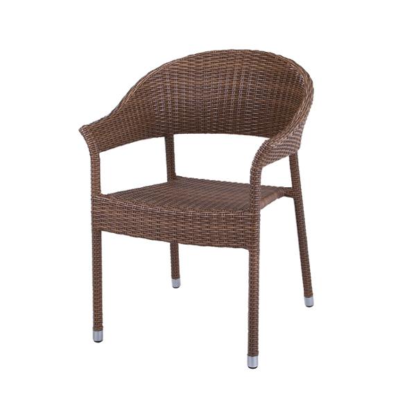 アームチェアー 椅子 スチールフレーム リゾート風 座面高44cm ( 送料無料 完成品 1人掛け チェア イス いす リラックスチェアー 一人掛け ブラウン 茶色 モダンリビング おしゃれ dining かわいい )