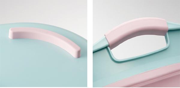 バケツ 折りたたみ シリコン 23L ソフトタブ おしゃれ 持ち手付き 排水栓付き 日本製 ( タライ ばけつ ワイド プラス 折り畳み コンパクト つけ置き アウトドア 浸け置き シューズ 洗濯 白 ピンク 色 パステルカラー 丸型 )