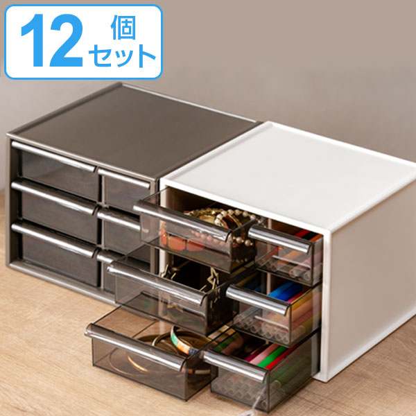 卓上収納ボックス アイケース S 12個セット ( 小物入れ 収納ケース 小物収納 送料無料 引き出し デスクチェスト 机 整理 レターケース )
