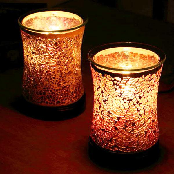 セール特価品 優しい香りに癒される宝石のようなアロマライト 照明 アロマランプ モザイク ガラス テーブルランプ コード式 アロマ ライト テーブル 卓上 ついに再販開始 癒し インテリア おしゃれ 香り アロマライト ランプ ナイトランプ テーブルライト アロマテラピー リラックス