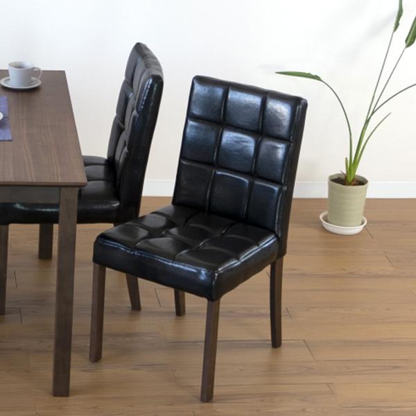 ダイニングチェア レトロ調 PVCレザー座面 ( 送料無料 ダイニングチェアー イス 椅子 チェア 食卓椅子 木製 リビングチェア 幅95 奥行37 高さ82 チェアー いす ダイニング )
