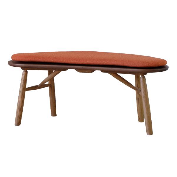ダイニングベンチ 長椅子 ナチュラルデザイン 天然木 Kozue 約幅127cm ( 送料無料 ベンチ チェア ダイニングチェアー いす 完成品 木製 無垢材 北欧 ウォールナット ウォルナット アッシュ )