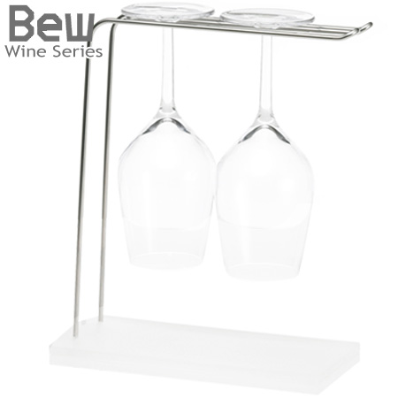hanging wine glass rack bew wine glass holder 2 pcs desktop type wine glass wine glass hanger draining wine stand stand stainless steel storage kitchen - Hanging Wine Glass Rack