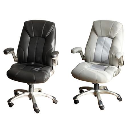 オフィスチェア ソフトポリウレタン エグゼクティブチェア 回転アーム付 ( パソコンチェア OAチェア 椅子 送料無料 )