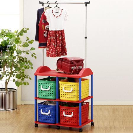 Gentil With Pipe Hanger 4 Kids Storage Baskets (bag Rack Toy Boxes Childrenu0027s  Drawer Trundle Clothes Hang Plastic Storage Box Hanger Rack) 10P05Dec15