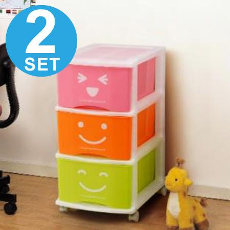 Wheelie kids case costume 3-2 pieces (chest storage box plastic drawer kids cute) & livingut | Rakuten Global Market: Wheelie kids case costume 3-2 ...