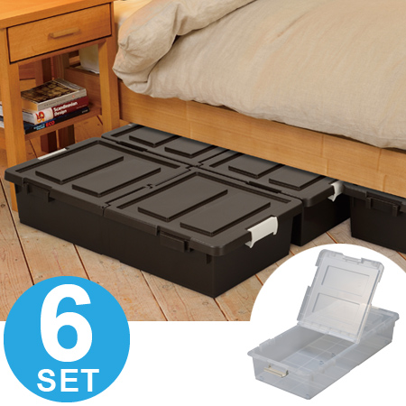 storage case bed under the storage box upright horizontal position available roller with plastic 6