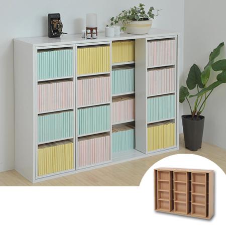 Bookshelves Sliding Shelves Triple Paperback Comic Book Rack Width 120 Cm Open Storage Shelf Thickness Rox 30 Depth
