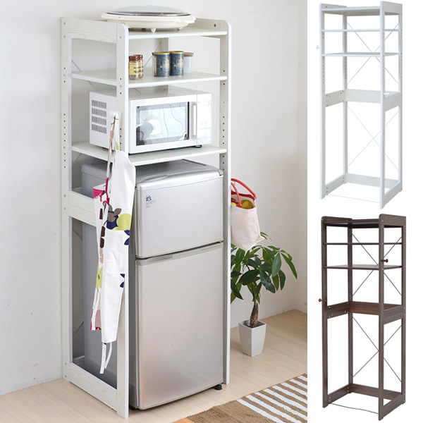 Rack refrigerator top rack kitchen shelves ? range stand alone Mini refrigerator shelves kitchen ?  sc 1 st  Rakuten & livingut | Rakuten Global Market: Rack refrigerator top rack kitchen ...