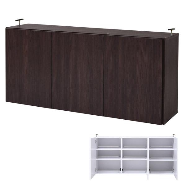 本棚 ブックシェルフ 1cmピッチ 深型 扉付用 上置き棚 幅120.5cm ( 送料無料 書棚 壁面収納 リビング収納 ラック 上棚 ハイタイプ 書庫 収納棚 )