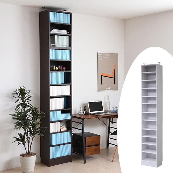 本棚 ブックシェルフ 1cmピッチ 深型 オープン棚 幅41.5cm 上置きセット ( 送料無料 書棚 壁面収納 リビング収納 オープンラック ハイタイプ 書庫 収納棚 )