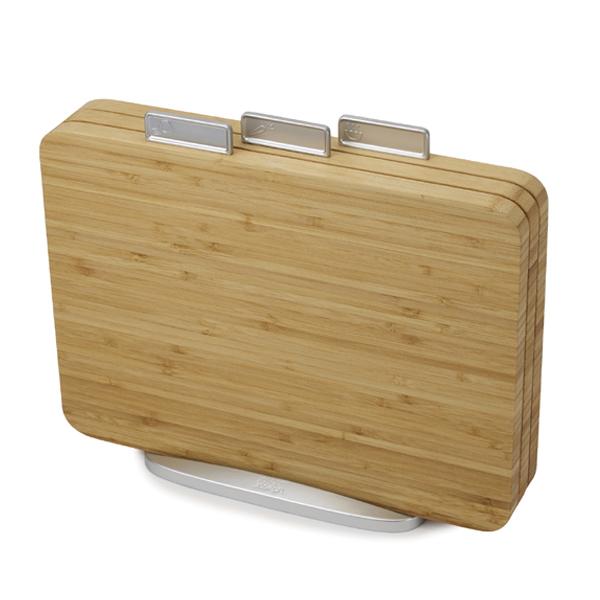 Joseph Joseph ジョセフジョセフ インデックス付まな板 バンブー 3枚セット (  まな板 まないた 竹製 竹製まな板 カッティングボード まな板立て まな板スタンド キッチン用品 調理器具 キッチンツール まな板セット )