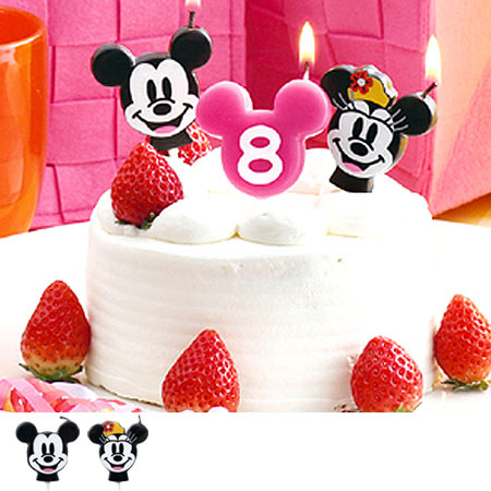 Disney Candle Candlelight Mickey Minnie Face Type Birthday Cake Character Candles Number Mouse
