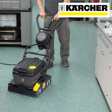 小型床洗浄機 業務用 ローラーブラシ式 ケルヒャー BR40/10C ( 送料無料 Karcher 清掃機器 業務用 )