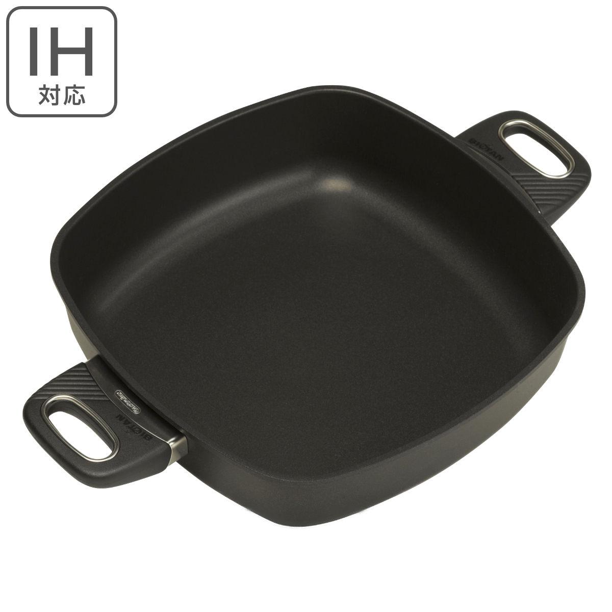 IH対応角型浅鍋 バイオタン BIOTAN 28×28cm 深さ7cm 17528 ( 送料無料 ガス火対応 ガストロラックス フライパン Gastrolux 2年保証 焦げ付きにくい )