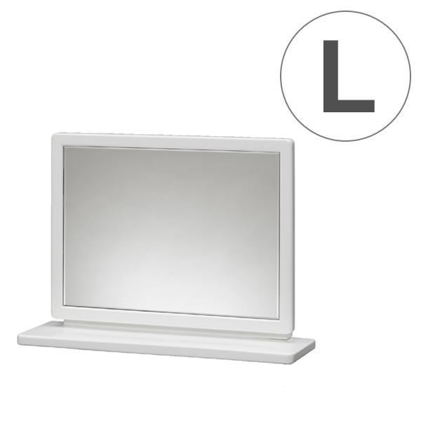 卓上ミラー 上置ミラー クレア 幅60cm ( 送料無料 ミラー 鏡 木製 卓上 スタンドミラー コンパクトミラー メイクアップ ドレッサー コンパクト 木製フレーム 高級感 ホワイト シンプル )