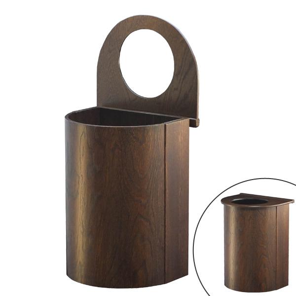 ゴミ箱 ダストボックス 曲げ木 幅23cm ( 送料無料 ごみ箱 ダストボックス 屑入れ くずかご 木製 おしゃれ ふた付き )