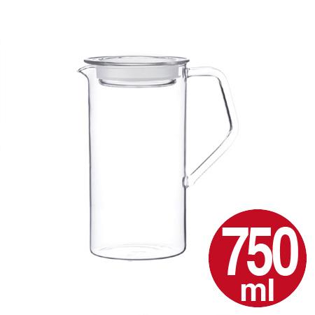 沸かし立ての熱いお茶もそのまま注げるウォータージャグ 冷水筒 ピッチャー 冷水ポット 5%OFF 水差し キントー ウォータージャグ CAST 750ml 耐熱 ガラス製 2020モデル KINTO