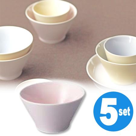 アース ボウル ピンク 5個セット ( 和食器 器 茶碗 送料無料 KINTO キントー )