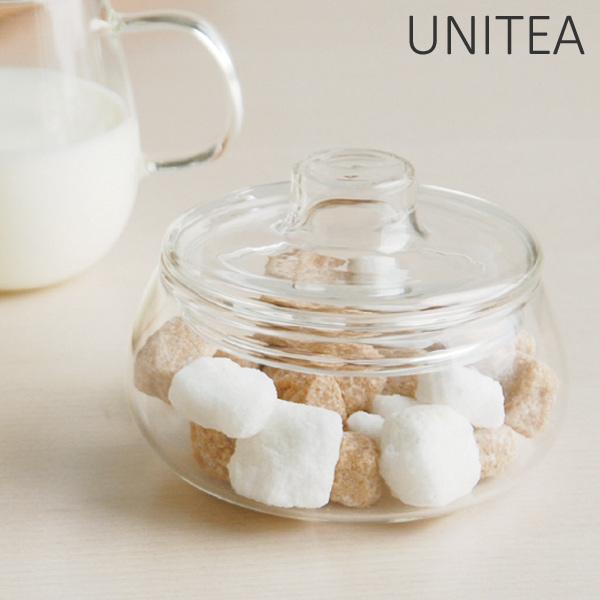 シンプルでお洒落 使いやすいUNITEAシリーズのシュガーポット キントー KINTO シュガーポット UNITEA ユニティ 砂糖 紅茶 正規品送料無料 コーヒー ポット 男女兼用 ミルク入れ ガラス 耐熱ガラス シュガー