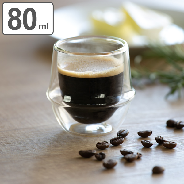 Espresso Cup KRONOS Double Wall Steel Thermal Insulation Glass ( Cup Cup  Western Of Glass And Insulated Dessert Cups With Double Wall Glass Mug )