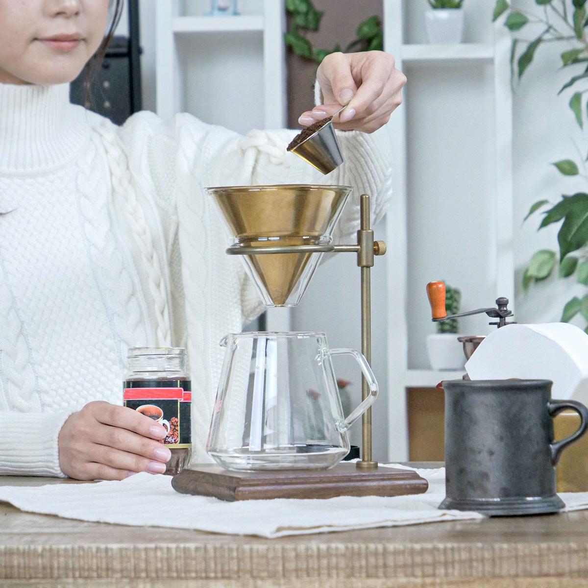 コーヒースタンド ブリューワースタンド SLOW COFFEE STYLE Specialty 真鍮製スタンド ( 送料無料 ウォールナット 木台 スタンド ドリップ コーヒー コーヒーウェア スローコーヒースタイル スペシャリティ コーヒーグッズ KINTO キントー )