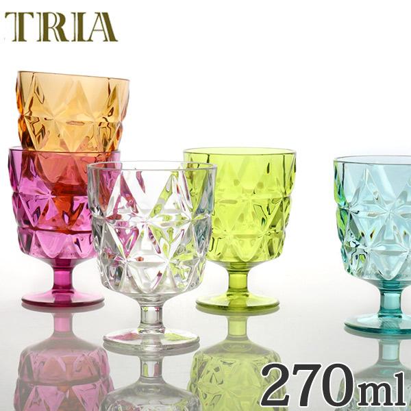 光を反射してキラキラと美しく輝く食器シリーズ「TRIA」 キントー KINTO ワイングラス トリア TRIA コップ 270ml ( カップ 食器 食洗機対応 割れにくい プラスチック クリア プラスチック製 プラコップ )