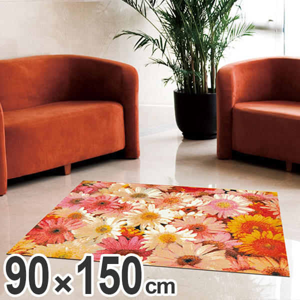 玄関マット Office & Decor Flower Garden 90×150cm ( 送料無料 業務用 屋内 建物内 オフィス 事務所 来客用 デザイン オフィス&デコ おしゃれ )