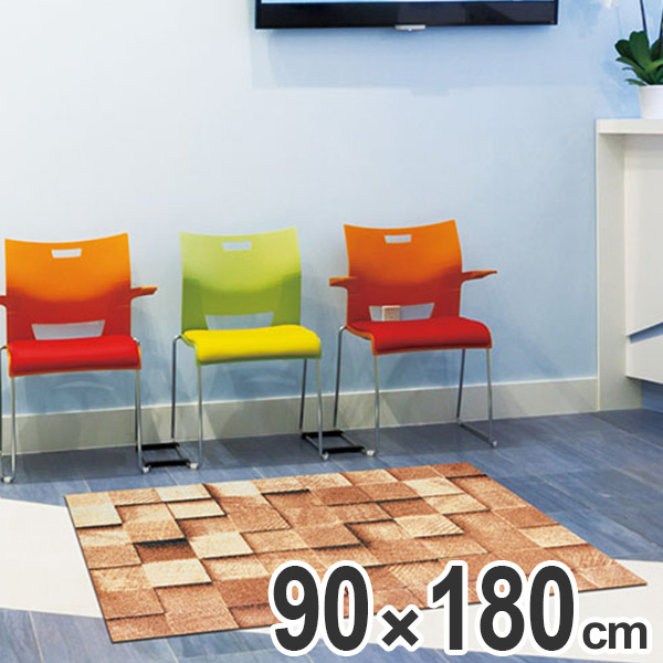 玄関マット Office & Decor Block 90×180cm ( 送料無料 業務用 屋内 建物内 オフィス 事務所 来客用 デザイン オフィス&デコ おしゃれ )