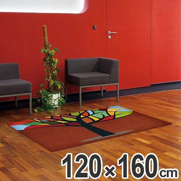 玄関マット Office & Decor Stained Tree 120×160cm ( 送料無料 業務用 屋内 建物内 オフィス 事務所 来客用 デザイン オフィス&デコ おしゃれ )