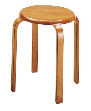 6脚セット スタッキング スツール 天然木 ブラウン( チェア 丸椅子 イス 木製 送料無料 )