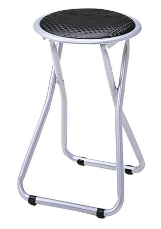 6脚セット 折りたたみスツール ロック機能付き ブラック( パイプ椅子 折り畳み 丸椅子 イス チェア 送料無料 )