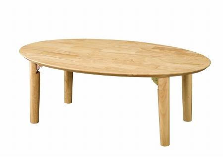 座卓(折脚) 円形 ナチュラル( 座卓 センターテーブル リビングテーブル ローテーブル 折り畳み 折りたたみ )【送料無料】