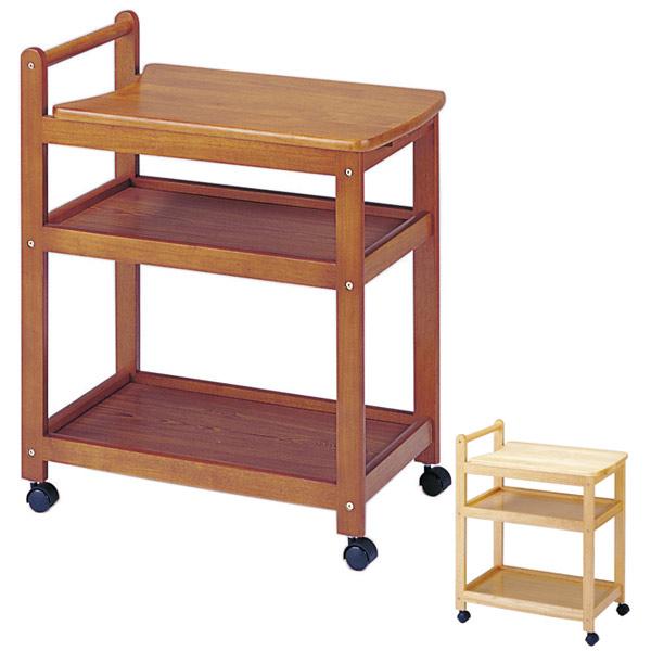 キッチンワゴン キャスター付 木製ワゴン 天板スライド仕様 長さ66.5~87cm ( 送料無料 キッチン 収納 ポット スライド 天然木 北欧 台所 3段 ナチュラル ワゴン )
