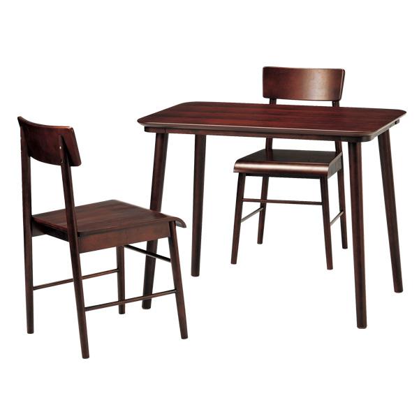 ダイニング3点セット テーブル 幅90cm チェア 2脚 天然木 ロンド ( 送料無料 ダイニングテーブル ダイニングチェア ダイニングセット セット 椅子 イス いす 机 つくえ チェアー ダイニングチェアー 食卓 2人用 二人用 シック シンプル )