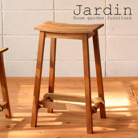 スツール 椅子 角型 マホガニー製 Jardin(ジャルダン) 天然木製 高さ61.5cm ( 送料無料 カウンターチェア ハイチェア イス チェアー 背もたれなし アジアン カントリー調 )