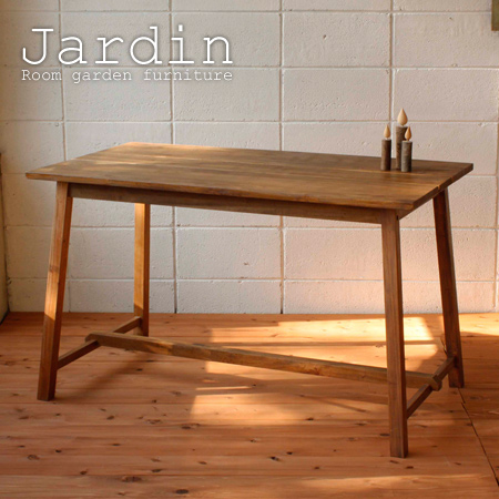 ■Jardin (Jardin) 120cm in width (four dining table natural wooden natural  country-like) made of stock limit, arrivalless ■ table mahogany