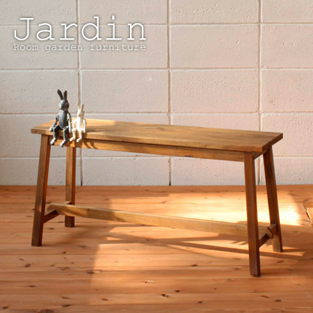 ■Jardin (Jardin) 90cm in width (two chair natural wooden natural  country-like dining tables) made of stock limit, arrivalless ■ bench sofa  mahogany