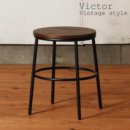 44 cm tall stools round Chair Victor (JVC) (iron retro simple Chair Chair) & livingut   Rakuten Global Market: 44 cm tall stools round Chair ...