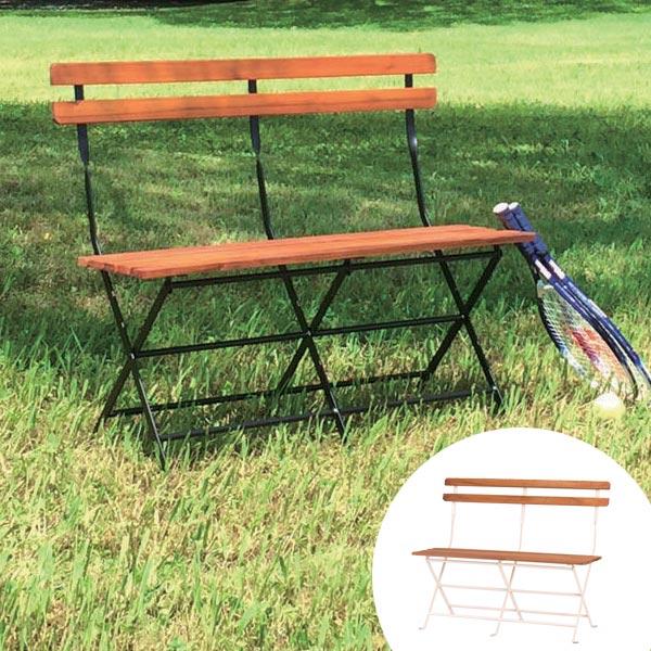 ベンチ 天然木 フォールディングベンチ ( 送料無料 椅子 イス いす チェアベンチ ベンチチェア 木製ベンチ 長椅子 腰掛け アカシア 木製 異素材 カフェ風 おしゃれ 屋外 室内 )