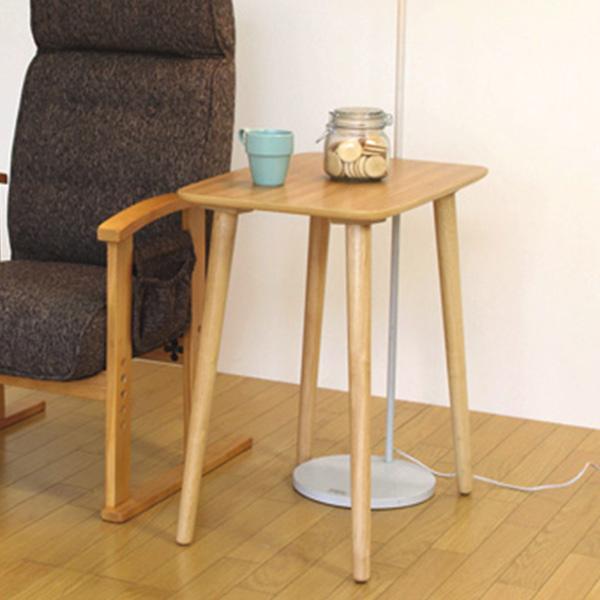 ハイテーブル 食卓 天然木 高さ64cm 幅60cm ( 送料無料 サイドテーブル テーブル 木製 北欧 ナチュラル 小さい シンプル 一人暮らし 新生活 おしゃれ 小さいテーブル リビング ソファサイド )