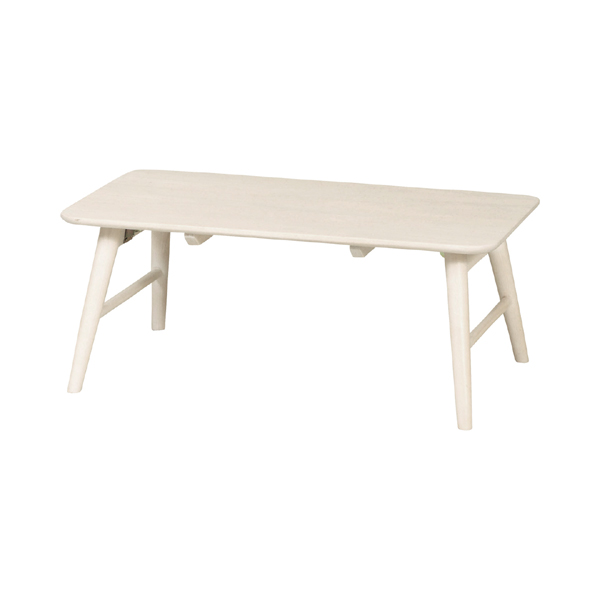 テーブル 折りたたみ フォールディングテーブル カントリー調 MIGNON 幅80cm ( 送料無料 クラシック調 ガーリー 白家具 センターテーブル コンパクト リビング アンティーク 一人暮らし 女子 女の子 子供部屋 姫系 完成品 )